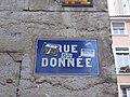 Lyon 1er - Rue Donnée - Plaque (fév 2019).jpg