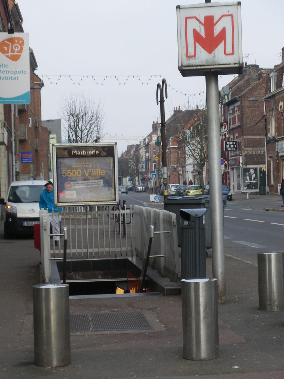 Marbrerie metrostation wikipedia - Station essence porte des postes lille ...