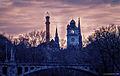 München, Winterabendstimmung an der Isar -- Munich, Winter Evening on the River Isar (12718057094).jpg