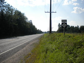 M-73 (Michigan highway) - M-73 in rural Iron County