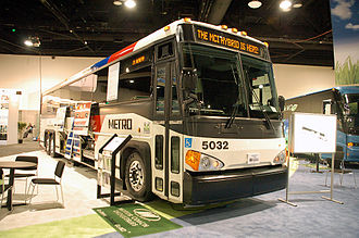 Metropolitan Transit Authority of Harris County - New Hybrid Bus in Houston METRO livery by Motor Coach Industries D4500CTH