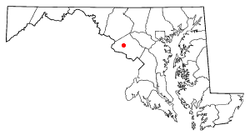 Location of Germantown in the U.S. state of Maryland