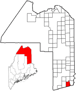 Location of Bancroft, Maine