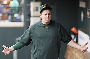 Trevor Cahill - Cahill with the Oakland Athletics