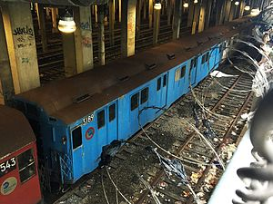 R10 (New York City Subway car) - R10 car 3189 at Pitkin Yard.