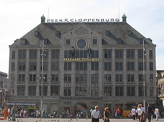 Madame Tussauds Amsterdam - The front façade of Madame Tussauds Amsterdam