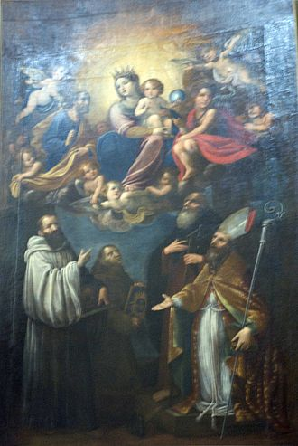 Astolfo Petrazzi - Astolfo Petrazzi, Madonna with St. John the Baptist, 1644