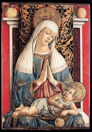 Diocesan museum of Ascoli Piceno, Italy - Carlo Crivelli, The Madonna of Poggio Bretta (c.1472)