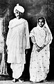 Mahatma and Kasturba Gandhi on their return to India from South Africa in 1915.jpg