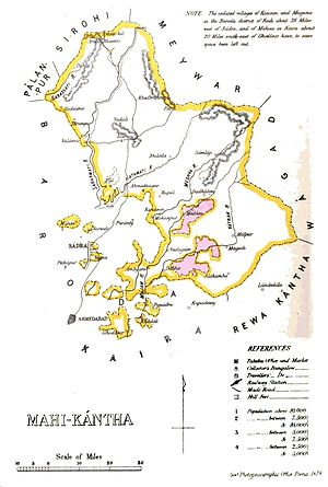 History of Idar - Idar in map of Mahi Kantha Agency, British India, 1878