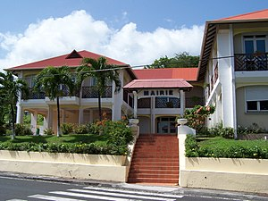 Vieux-Fort, Guadeloupe - The town hall of Vieux-Fort