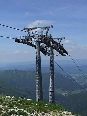 Malá Fatra - pillar of the gondola lift