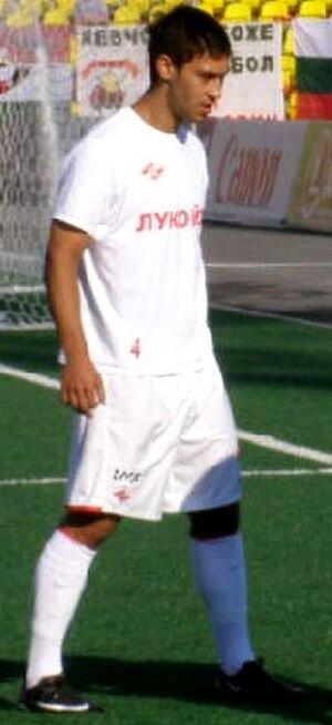 Malik Fathi - Malik Fathi warming up for FC Spartak Moscow