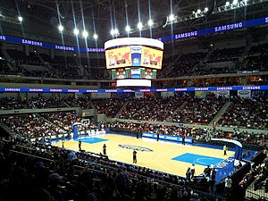 Sports in the Philippines - A PBA basketball game at the Mall of Asia Arena.