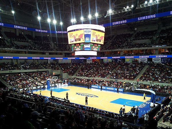 A PBA basketball game at the Mall of Asia Arena. - Philippines