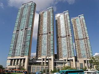 Manhattan Hill Housing estate in Lai Chi Kok, Hong Kong