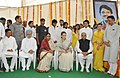 Manmohan Singh, the Chairperson, National Advisory Council, Smt. Sonia Gandhi, the Chief Minister of Maharashtra.jpg