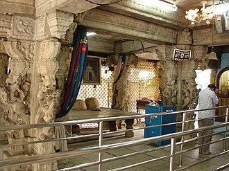 Kote Venkataramana Temple, Bangalore - Image: Mantapa (hall) in Kote Venkataramana Swamy Temple at Bengaluru