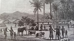 Maniema - Manyema Village in 1876