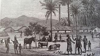 Maniema - Manyema Village in 1876