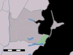 Uitdam - Image: Map NL Waterland Uitdam