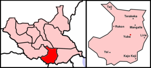 Central Equatoria - Image: Map Sudan Ba D Juba