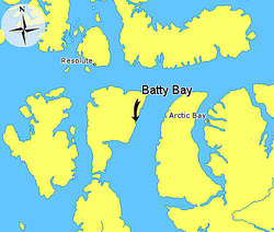 Map indicating Batty Bay, Somerset Island, Nunavut, Canada.png