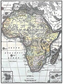 Peta afrika 1890