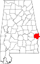 Map of Alabama highlighting Russell County.svg