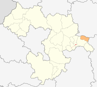 Anton Municipality - Image: Map of Anton municipality (Sofia Province)