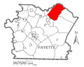 Map of Bullskin Township, Fayette County, Pennsylvania Highlighted.png