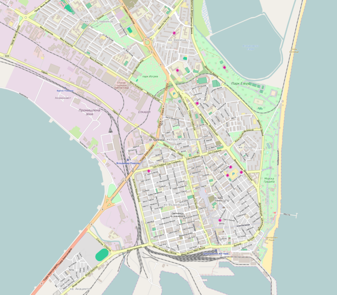 Файл:Map of Burgas center.png