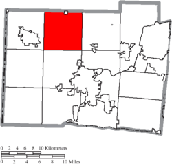 Location of Milford Township in Butler County