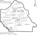 Map of De Soto Parish Louisiana With Municipal and District Labels.PNG