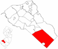 Map of Gloucester County highlighting Franklin Township.png