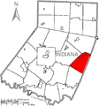 Map of Indiana County, Pennsylvania Highlighting Pine Township.PNG