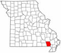 Map of Missouri highlighting Butler County.png