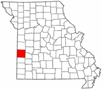 Map of Missouri highlighting Vernon County.png