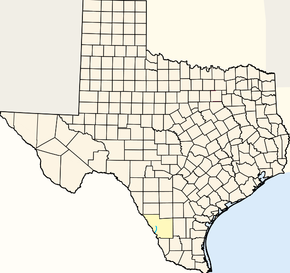 Map of Texas Highlighting Chacon Creek.png
