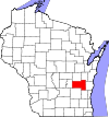 State map highlighting Fond du Lac County