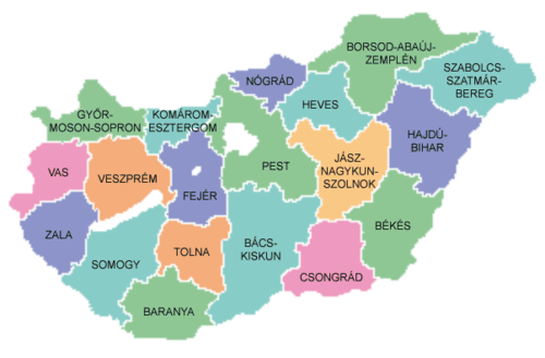Geography of hungary wikipedia map of counties of hungary 2004g gumiabroncs Choice Image