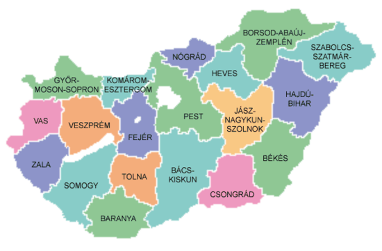 Map of counties of Hungary 2004.png