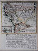 Mapa del Perú. Hermann Moll. Ca. 1720.