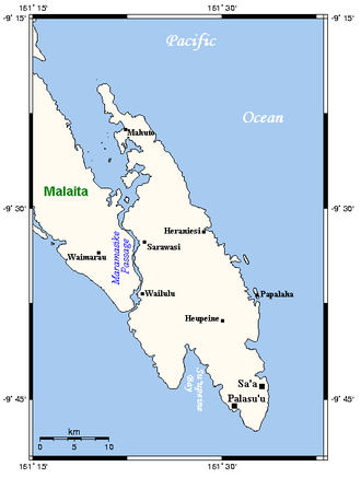 South Malaita Island - Maramasike and neighbouring areas