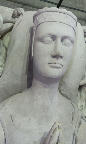 Margaret de Bohun, Countess of Devon - Margaret de Bohun , detail of her effigy (heavily restored) situated next to that of her husband on a chest tomb in Exeter Cathedral