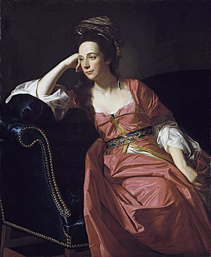 Margaret Kemble Gage - Portrait of Gage in the Turquerie style, circa 1771, by John Singleton Copley.  This portrait is in the Timken Museum of Art in San Diego, California.