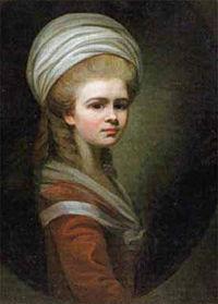 Maria Hadfield Cosway - Self-portrait in Uffizi Gallery.jpg