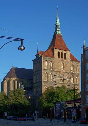 St. Mary's Church, Rostock - Western front of St. Mary