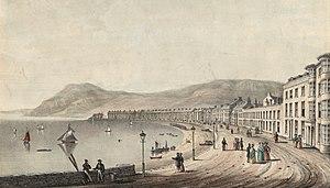 Aberystwyth - Aberystwyth at around 1840. Crane, W., fl. ca. 1835-1850, lithographer.