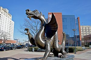 Dragon - Sculpture of Mario the Magnificent, the dragon mascot of Drexel University, by Eric Berg